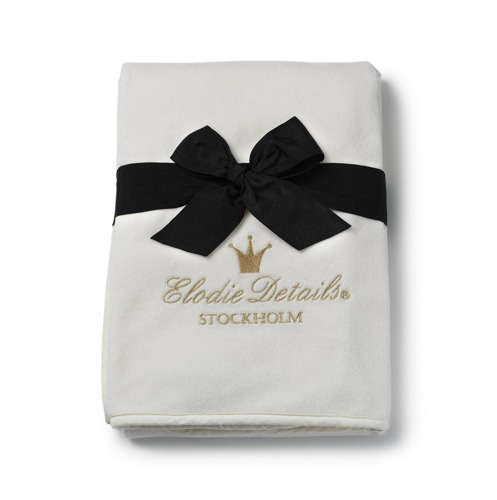 Elodie Details - Kocyk Pearl Velvet Vanilla White