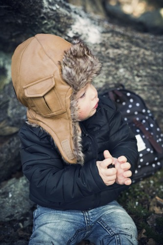 Elodie Details - czapka Chestnut Leather, 12-24 m-ce