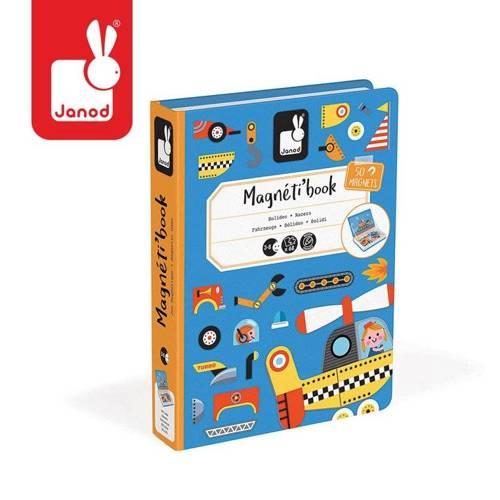 Janod – Magnetyczna układanka Pojazdy Magnetibook kolekcja 2018