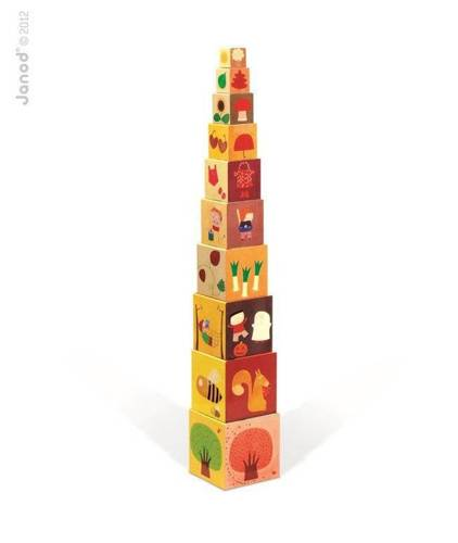 Janod - Piramida wieża 10 kostek Pory roku