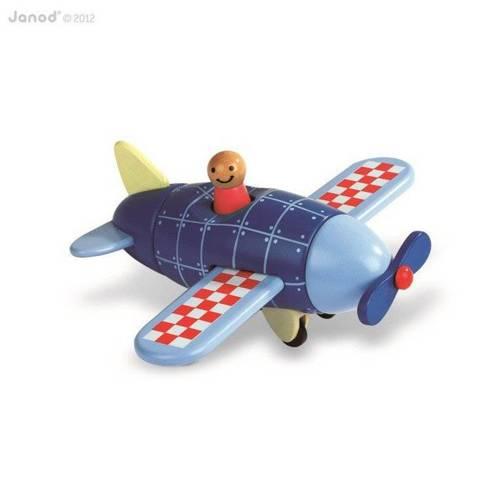 Janod - Samolot drewniany magnetyczny