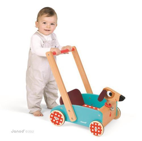 Janod - Szalony Piesek wózek chodzik