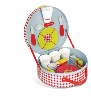 Janod - Zestaw piknikowy w walizeczce z 21 akcesoriami