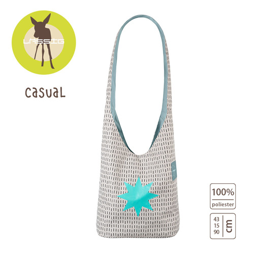 Lassig - Casual Label Torba Fan Shopper Twinkle aqua