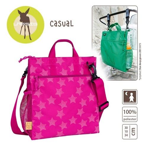 Lassig - Casual Label Torba do Wózka Reflective Star magenta