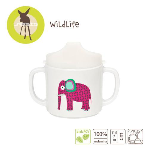 Lassig - Kubek z melaminy Wildlife Słoń