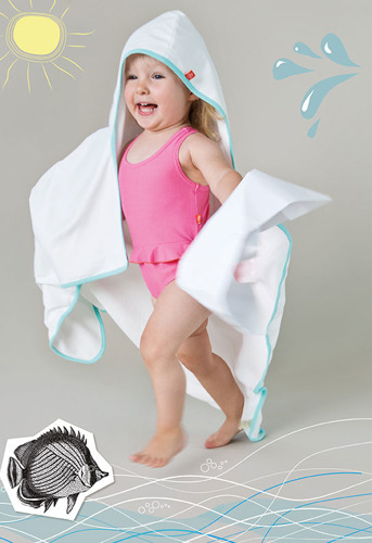 Lassig - Ręcznik z kapturem White