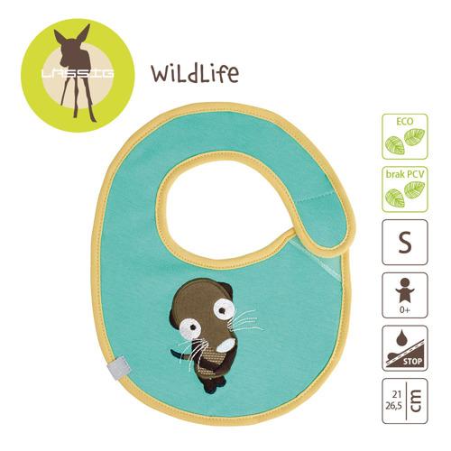 Lassig - Śliniak bawełniany wodoodporny Wildlife Surykatka