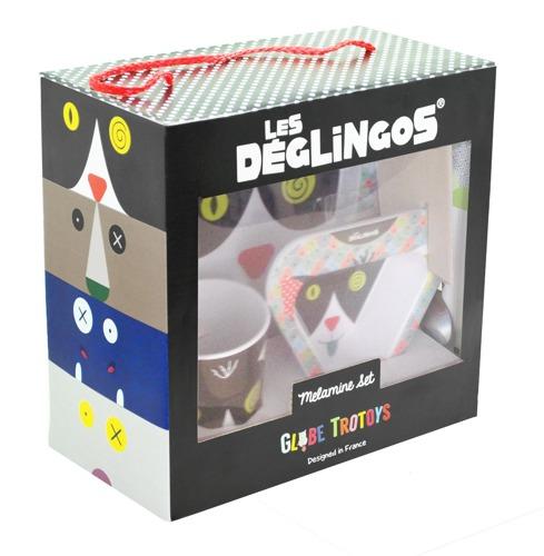 Les Deglingos - Zestaw z melaminy Kot Charlos