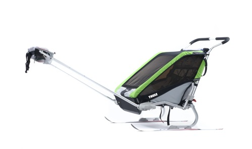 THULE Chariot Cheetah 1, przyczepka rowerowa dla dziecka - zielona