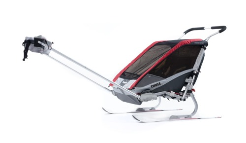 THULE Chariot Cougar 2, podwójna przyczepka rowerowa dla dziecka - czerwona