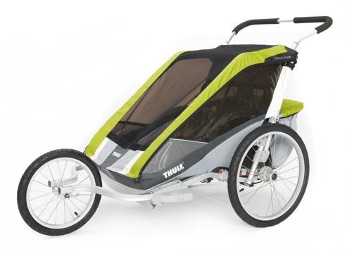 THULE Chariot Cougar 2, podwójna przyczepka rowerowa dla dziecka - zielona