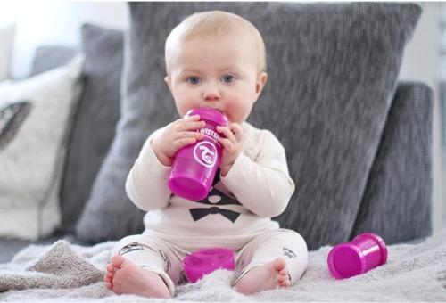 Twistshake - Antykolkowa butelka do karmienia, biała 180ml