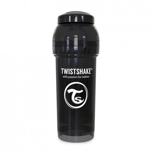 Twistshake - Antykolkowa butelka do karmienia, czarna 260ml