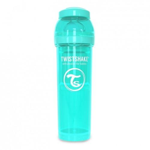 Twistshake - Antykolkowa butelka do karmienia, turkusowa 330ml