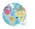 Janod - Puzzle w walizce dwustronne Błękitna planeta 208 elementów