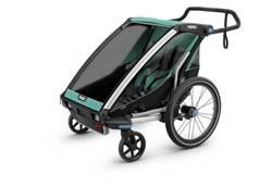 Przyczepka rowerowa dla dziecka - THULE Chariot Lite 2 - morska/czarna